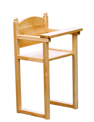 A wooden toy chair